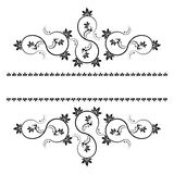Frame with monograms for design and decorate. Stock Photo