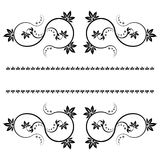 Frame with monograms for design and decorate. Royalty Free Stock Photography