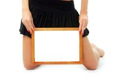 Frame in mooie handen Royalty-vrije Stock Afbeeldingen