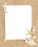 Frame motif sea Stock Image