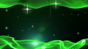 Frame Motion Graphic Elements green. graphic wave. the shape are particles. bg stock footage