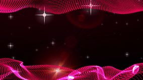 Frame Motion Graphic Elements red. graphic wave. the shape are particles. bg stock video