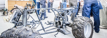 The frame of the motorcycle stock photo