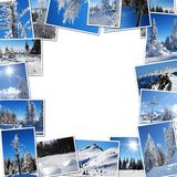Frame from mountain photos Stock Photography
