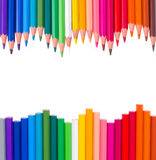 Frame of multicolored pensils Royalty Free Stock Images