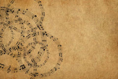 Frame with music notes background Royalty Free Stock Photos