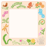 Frame with nature elements - vector Royalty Free Stock Photography