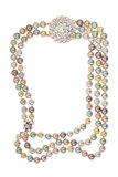 Frame of necklace with a brooch Royalty Free Stock Photography