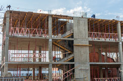 The frame of a new building Stock Photography