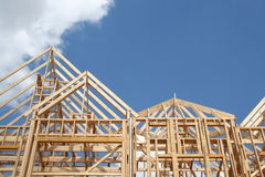 Frame of new house. Frame of a new house under construction Royalty Free Stock Photography