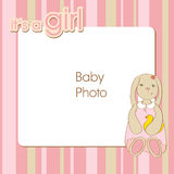 Frame for a newborn girl Stock Photography