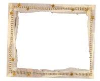 Frame of newsprint. Frame of newsprint, collage and gold stars Stock Photos