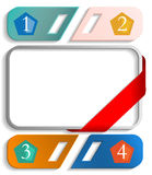 Frame with numbers vector Royalty Free Stock Photo