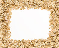 Frame of oatmeal. Stock Image