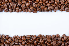 Free Frame Of Coffee Beans On A White Background. Stock Photos - 47908963