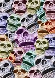 Frame Of Colored Skulls Royalty Free Stock Image