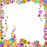 Frame Of Colorful Flowers Stock Image