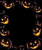 Frame Of Grinning Halloween Lanterns Royalty Free Stock Photos