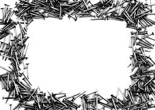 Frame Of Nails In B/w Royalty Free Stock Photos