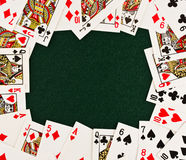 Frame Of Playing Cards Royalty Free Stock Photos