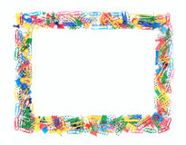 Frame of office supplies Royalty Free Stock Image