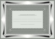 Frame for official document Royalty Free Stock Image