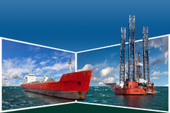 Frame with offshore industry Stock Image
