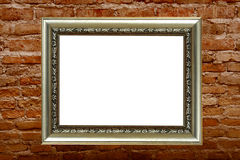 Frame on old block wall Royalty Free Stock Photos