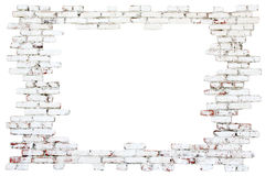 Frame - old brick wall. With white and red bricks Stock Image