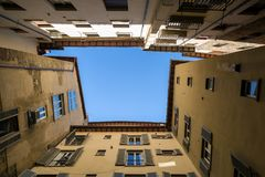 Frame of old buildings in Siena, Italy. royalty free stock photos