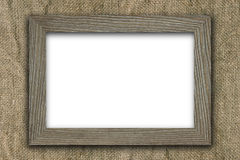 Frame on old canvas Royalty Free Stock Photography