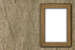 Frame on old canvas Stock Photography