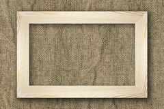 Frame on old canvas Royalty Free Stock Photos