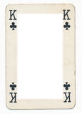 Frame from old  king of clubs playing card Royalty Free Stock Photos