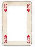 Frame from old  king of heart playing card Royalty Free Stock Images