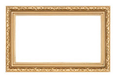 Frame. Old picture frame on a white background royalty free stock photos