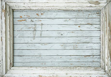 Frame from old  plank. Frame from old paint plank Stock Photography
