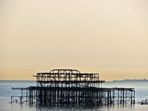 Frame of Old west Pier Brighton Stock Photo