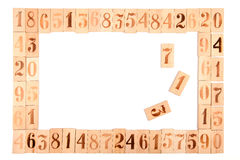 Frame of the old wood numbers Stock Images