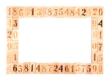 Frame of the old wood numbers Royalty Free Stock Photo