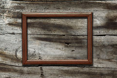 Frame on old wooden background Royalty Free Stock Photography