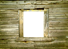 Frame On Wooden Wall Stock Image