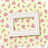 Frame op bloemenachtergrond Royalty-vrije Stock Foto's