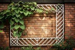 Frame op een bakstenen muur Stock Afbeelding