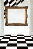 Frame op schaakbordsamenvatting Stock Afbeeldingen