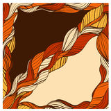 Frame with orange and brown braids Royalty Free Stock Photos
