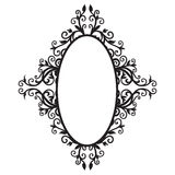 Frame ornament-01. Frame background with floral Arabic. The black graphics Royalty Free Stock Images