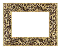 Frame with ornament. A photo of a golden wooden frame with ornament Royalty Free Stock Image