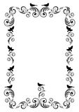 Frame with ornament and birds Stock Photography