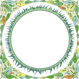 Frame with an ornament of their leaves and grass Royalty Free Stock Images